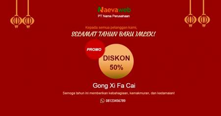 Promo Diskon Imlek Facebook Post