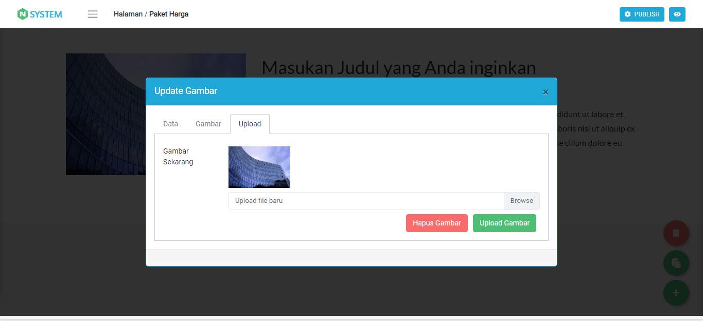 Mengupload Gambar baru ke Komponen Website