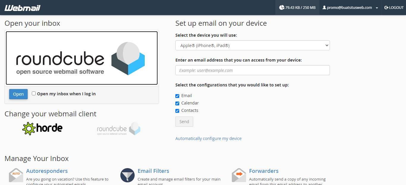 Memilih Aplikasi Webmail untuk Membuka Email Hosting