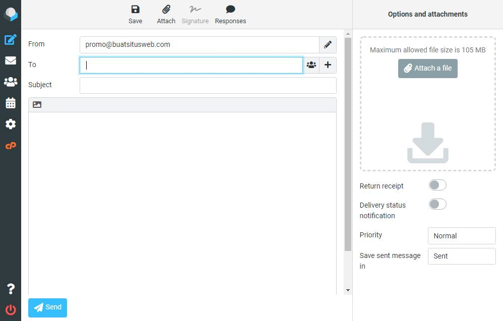 Membuat dan Mengirim Email di Webmail Roundcube